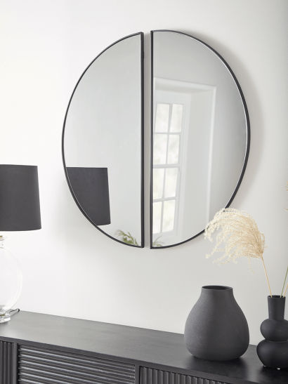 NEW Two Arch Mirrors - Black