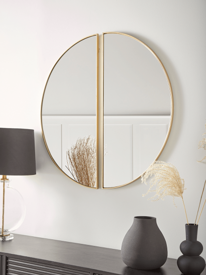 NEW Two Arch Mirrors - Gold