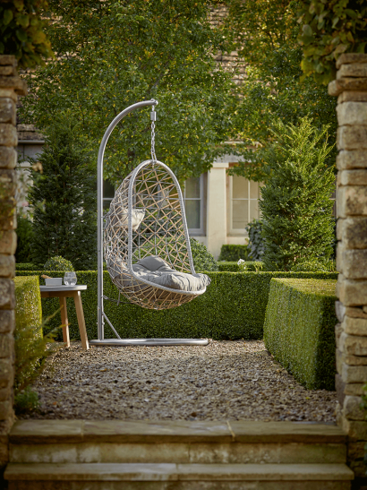 NEW Indoor Outdoor Slim Hanging Chair - Grey