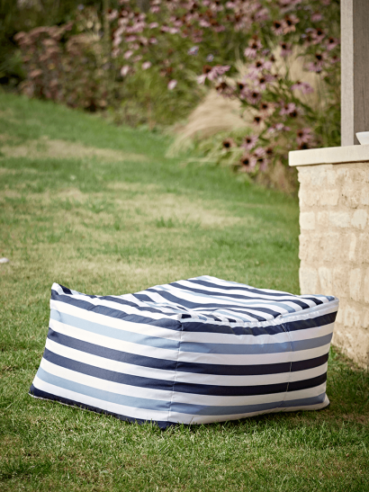 NEW Indoor Outdoor Striped Pouffe