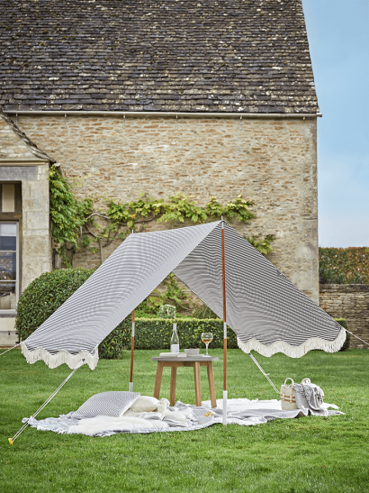 NEW Fringed Canopy - Blue Stripe