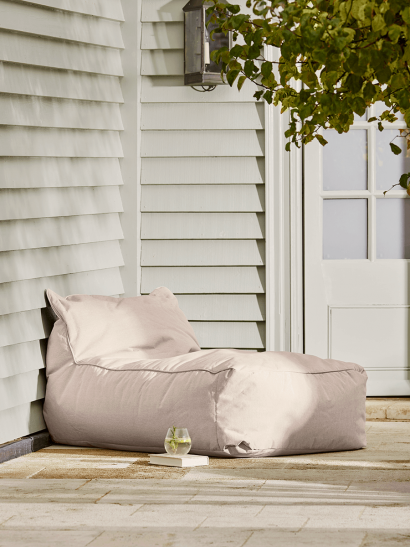 NEW Indoor Outdoor Beanbag Lounger - Soft Blush