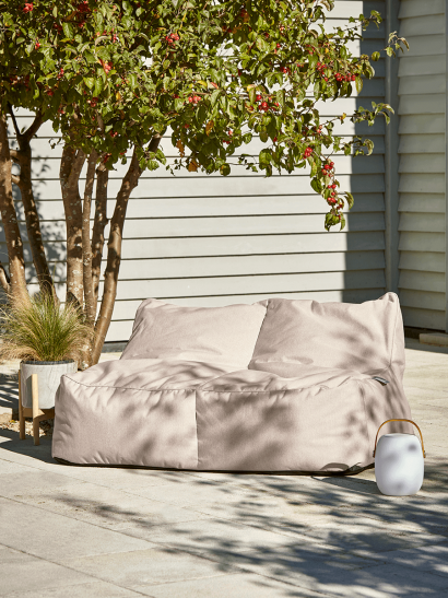 NEW Indoor Outdoor Double Beanbag - Soft Blush
