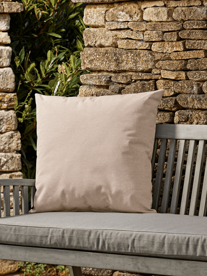 NEW Indoor Outdoor Large Square Cushion - Soft Blush