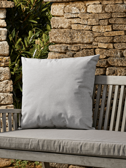 NEW Indoor Outdoor Large Square Cushion - Soft Grey