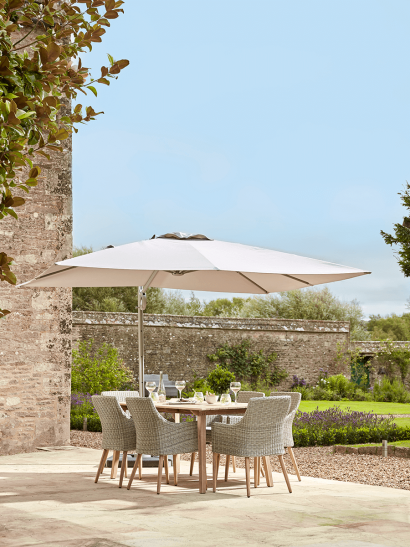 NEW Square Cantilever Parasol - Soft Grey
