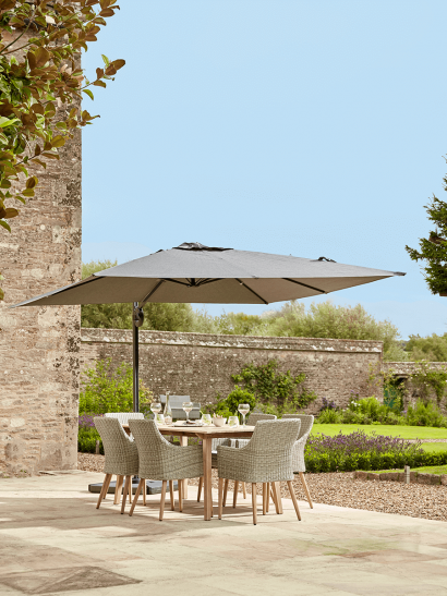 NEW Square Cantilever Parasol -  Charcoal