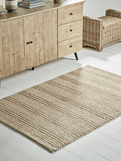 NEW French Stripe Jute Rug