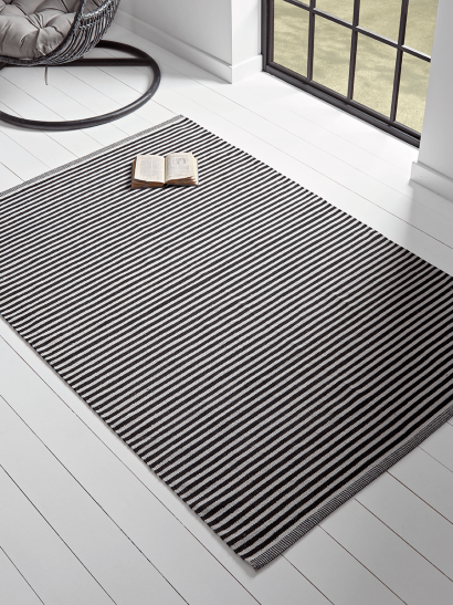 NEW Monochrome Striped Rug