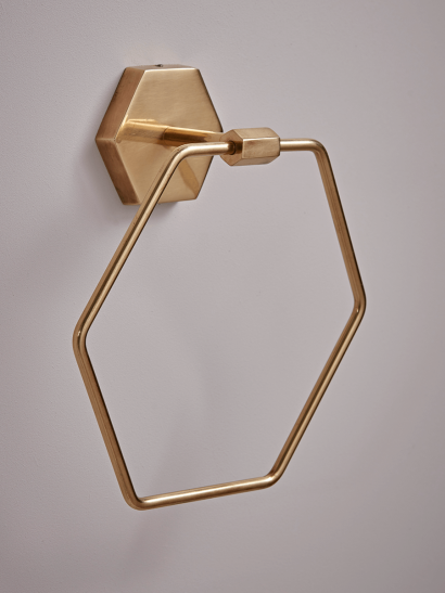 NEW Deco Towel Ring - Brass