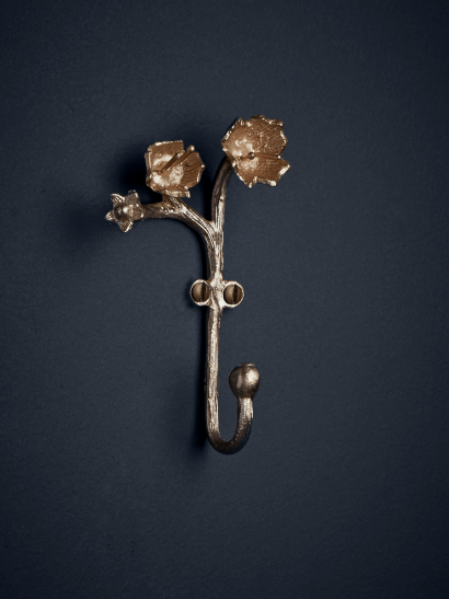 NEW Solid Brass Elegant Blossom Hook