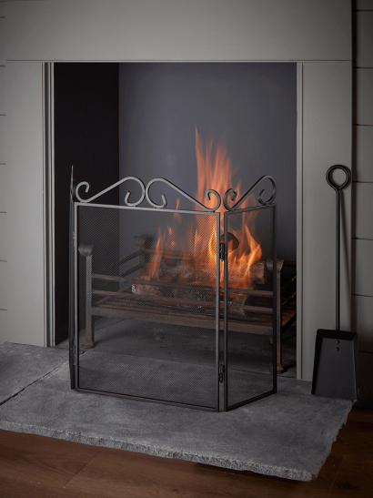 NEW Scroll Topped Fire Screen