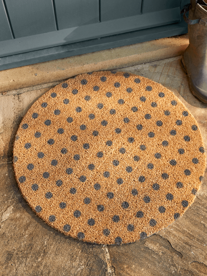 NEW Grey Dotty Circle Doormat