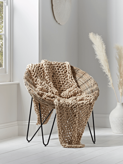 NEW Chunky Knit Throw - Natural