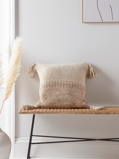 NEW Two Tone Knitted Cushion