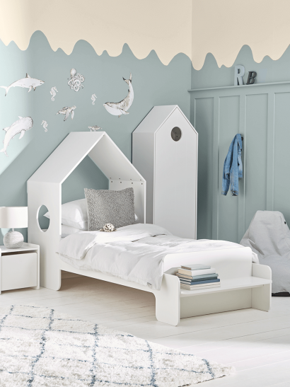 NEW Beach House Bed - White