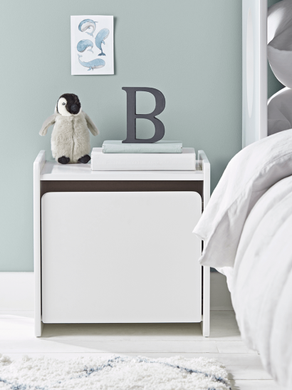 NEW Cubi Bedside Table - White