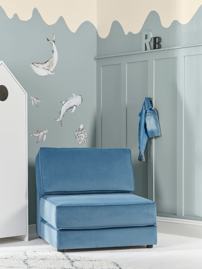 NEW Single Hideaway Bed - Soft Blue