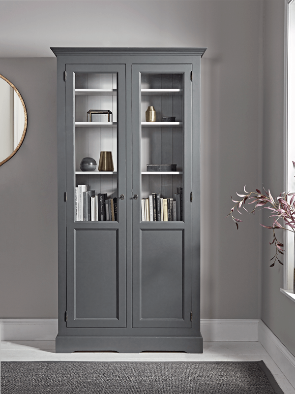Mette Tall Display Cabinet, Tall Curio Cabinet