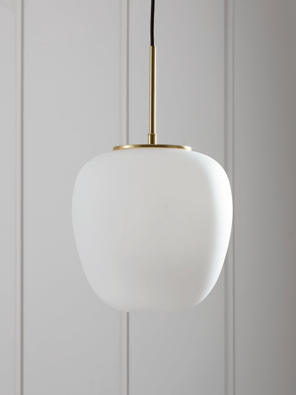 Frosted Glass Drop Pendant