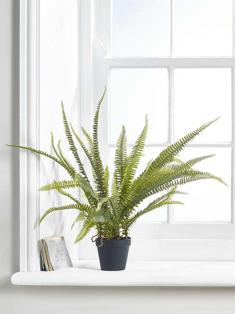 NEW Faux Potted Boston Fern