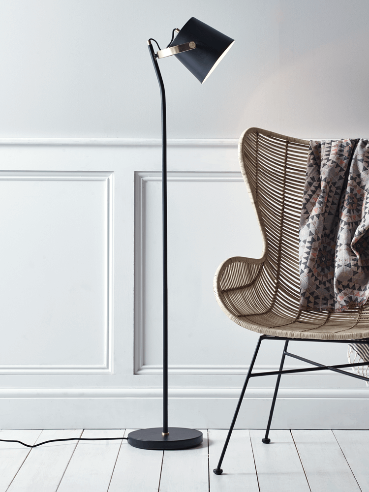 Cole Black Floor Lamp