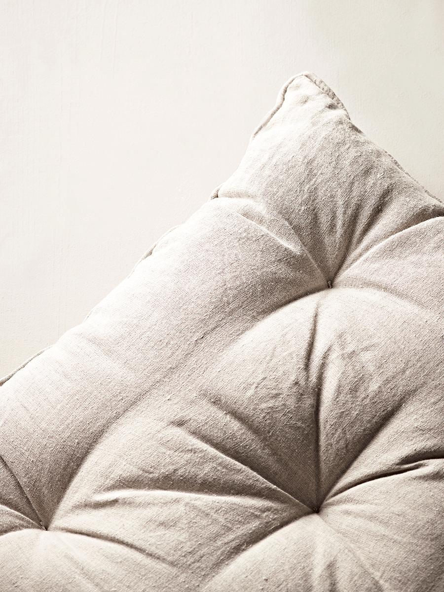Natural Linen Bench Cushion