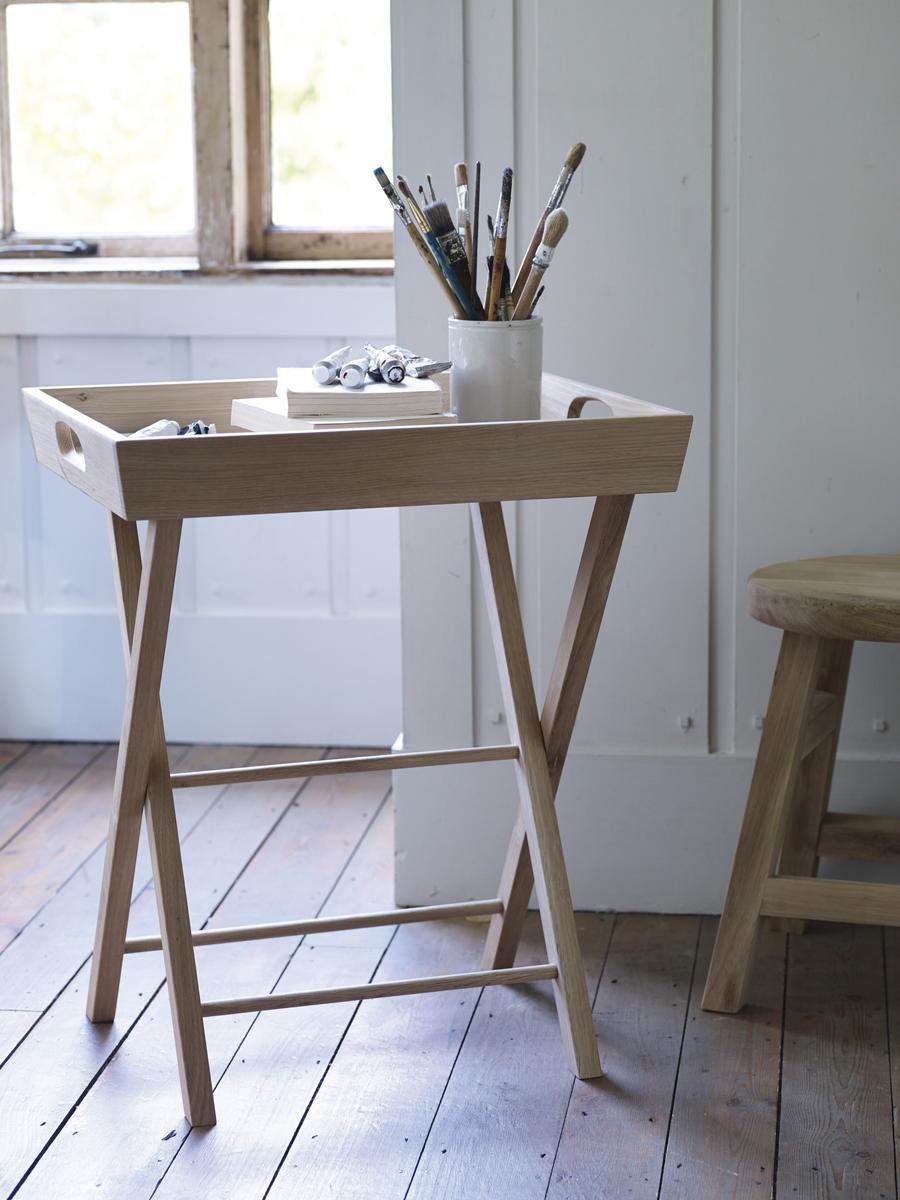 - Oak Butlers Tray Table