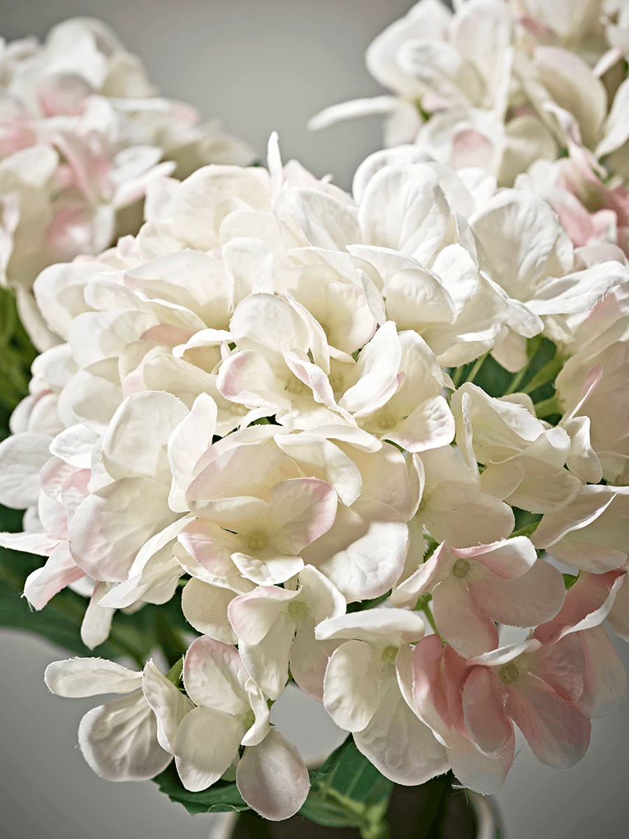 Three Faux Hydrangea - Blush