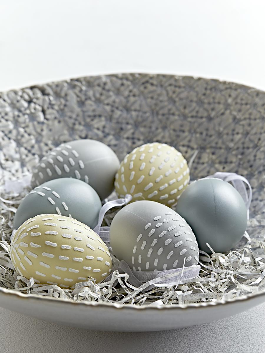 NEW Six Pastel Hanging Eggs