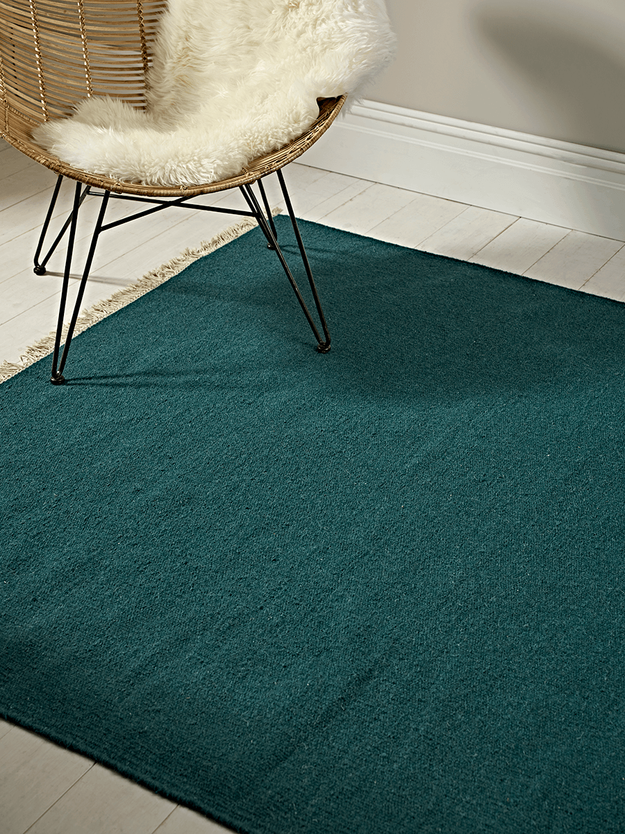 NEW The Cox & Cox Rug - Teal