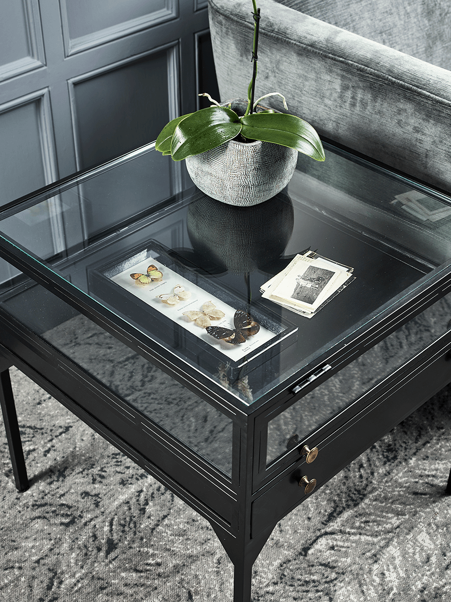 NEW Glass Display Table - Black