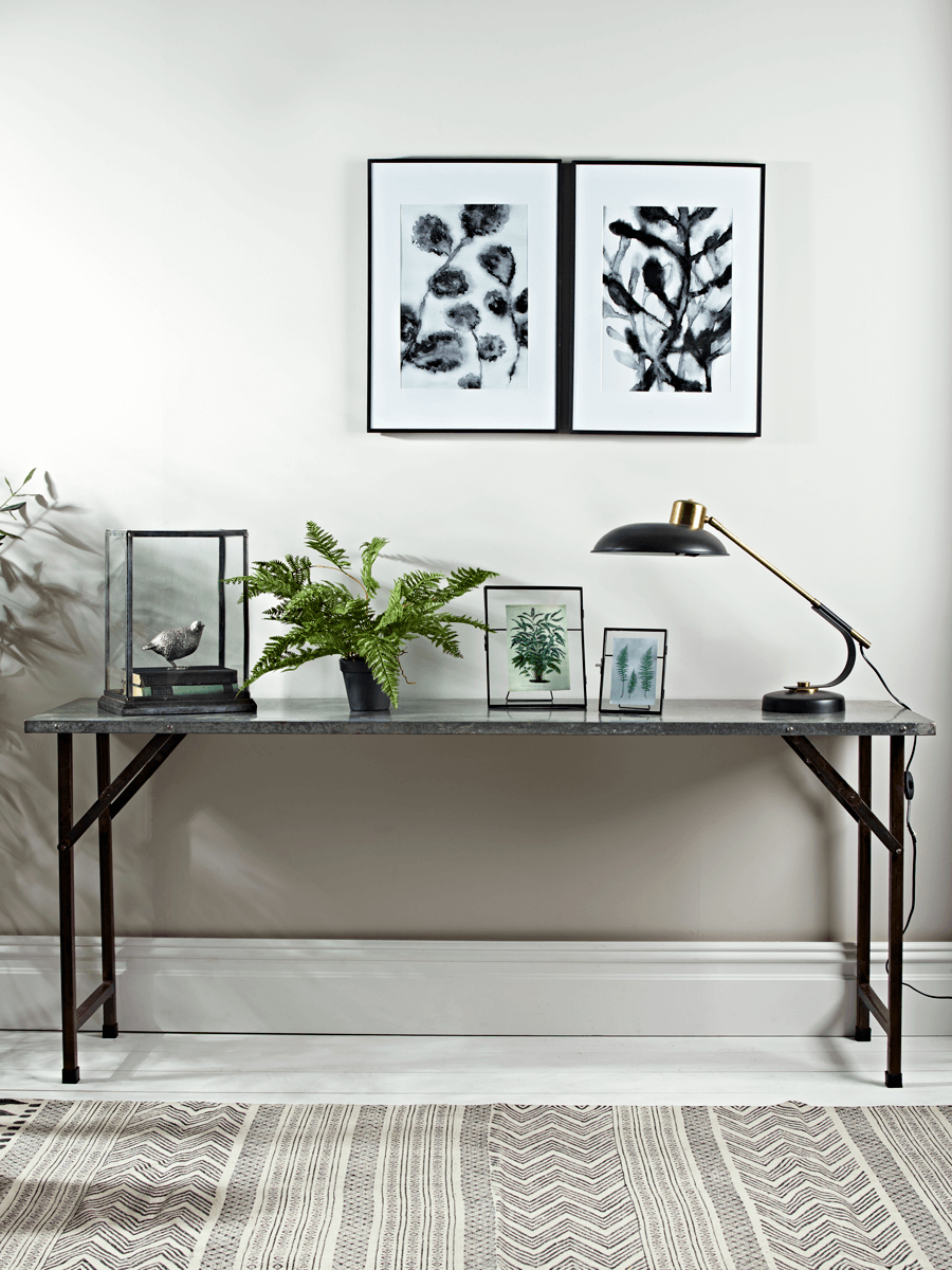 Zinc Topped Industrial Console