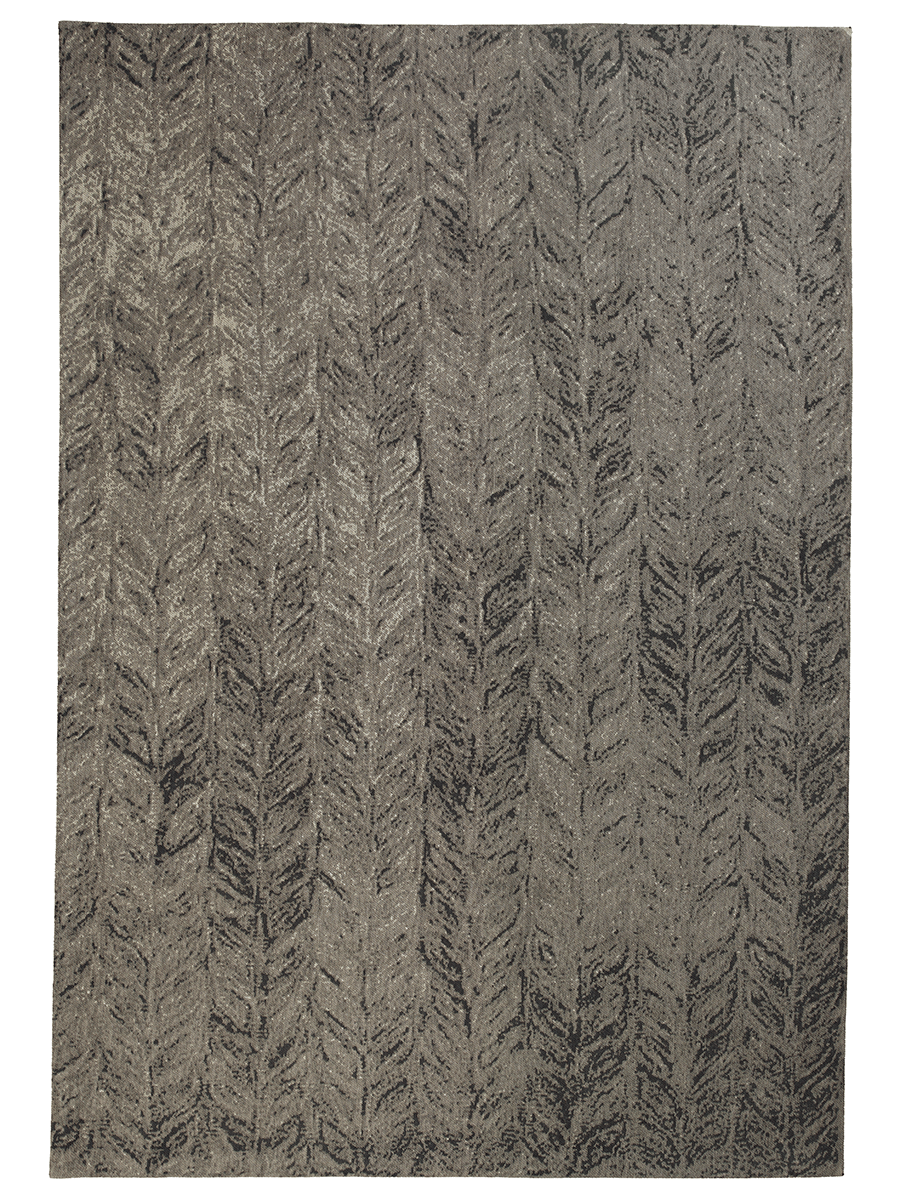 NEW Grey Leaves Rug