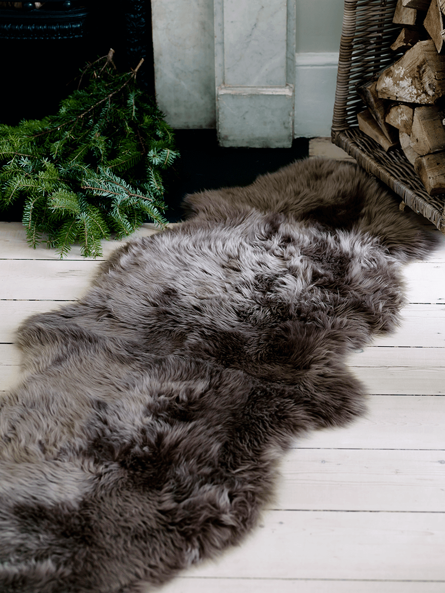 Sumptuous Sheepskin Double Rug - Mink