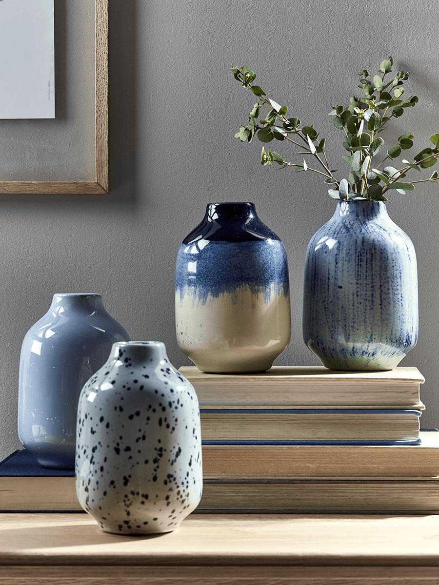 NEW Blue Porcelain Vases