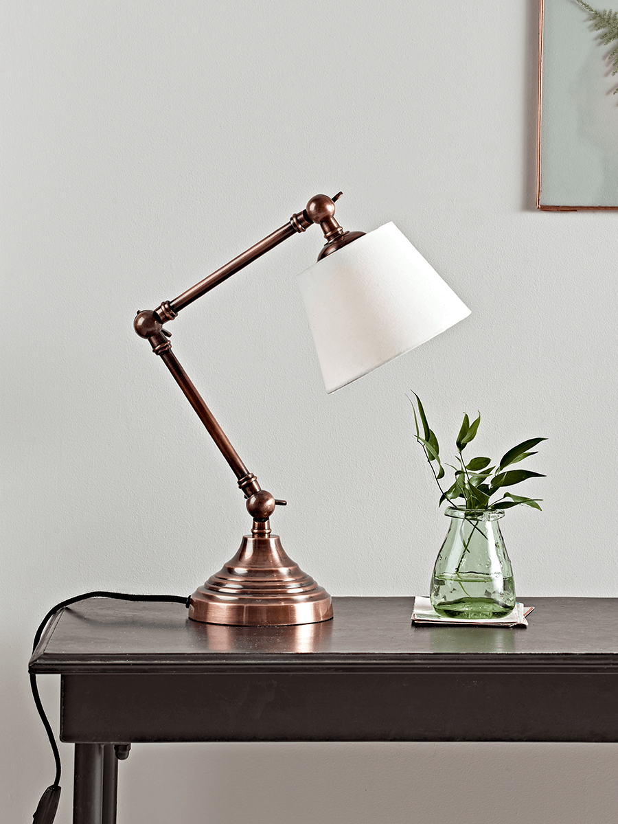NEW Antique Copper Desk Lamp