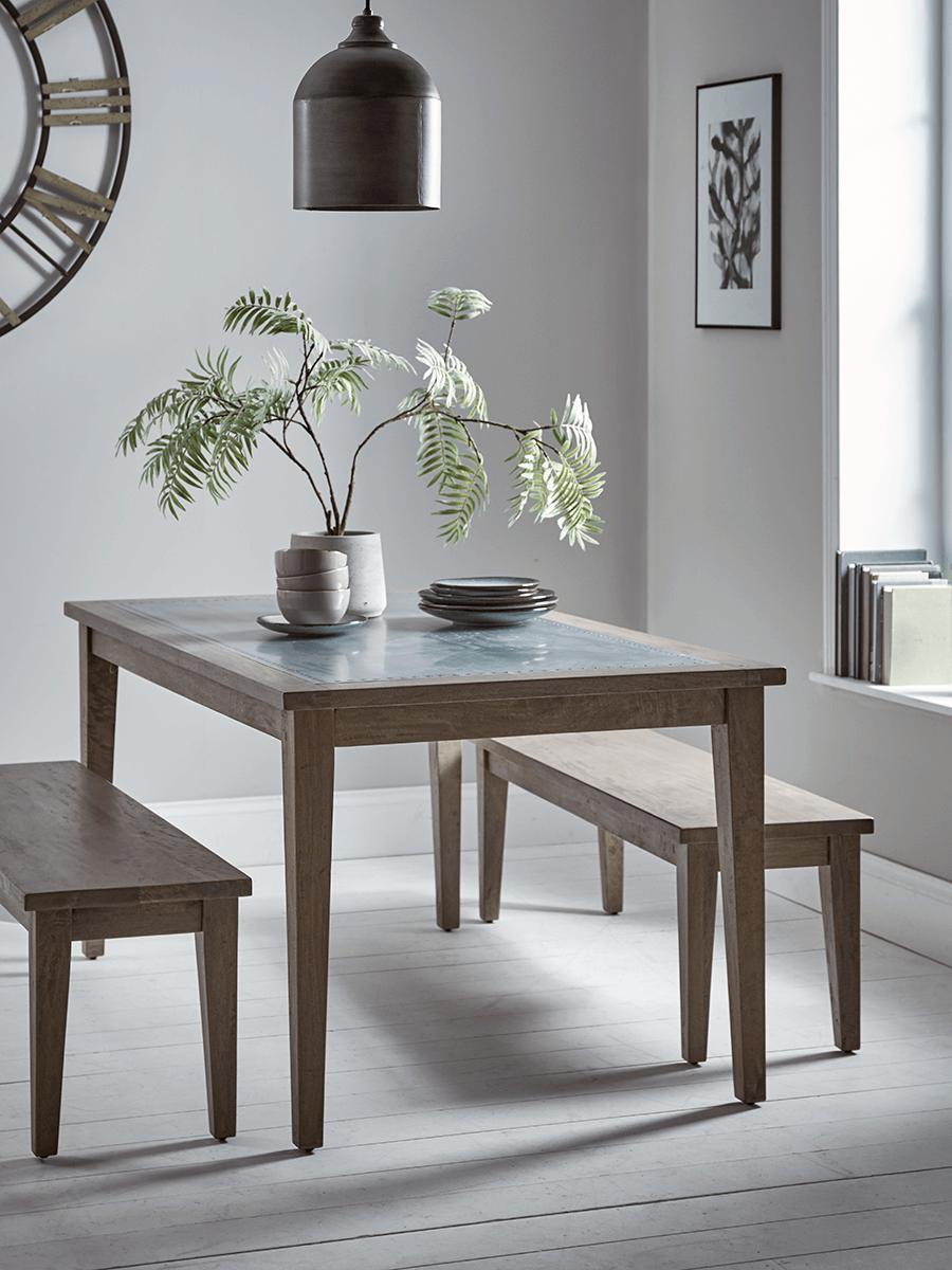 Hampton Zinc Topped Dining Table