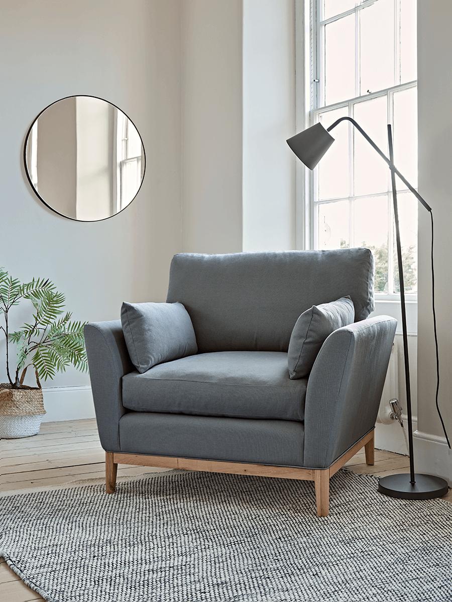 The Nordic Armchair - Flint Linen Cotton Blend
