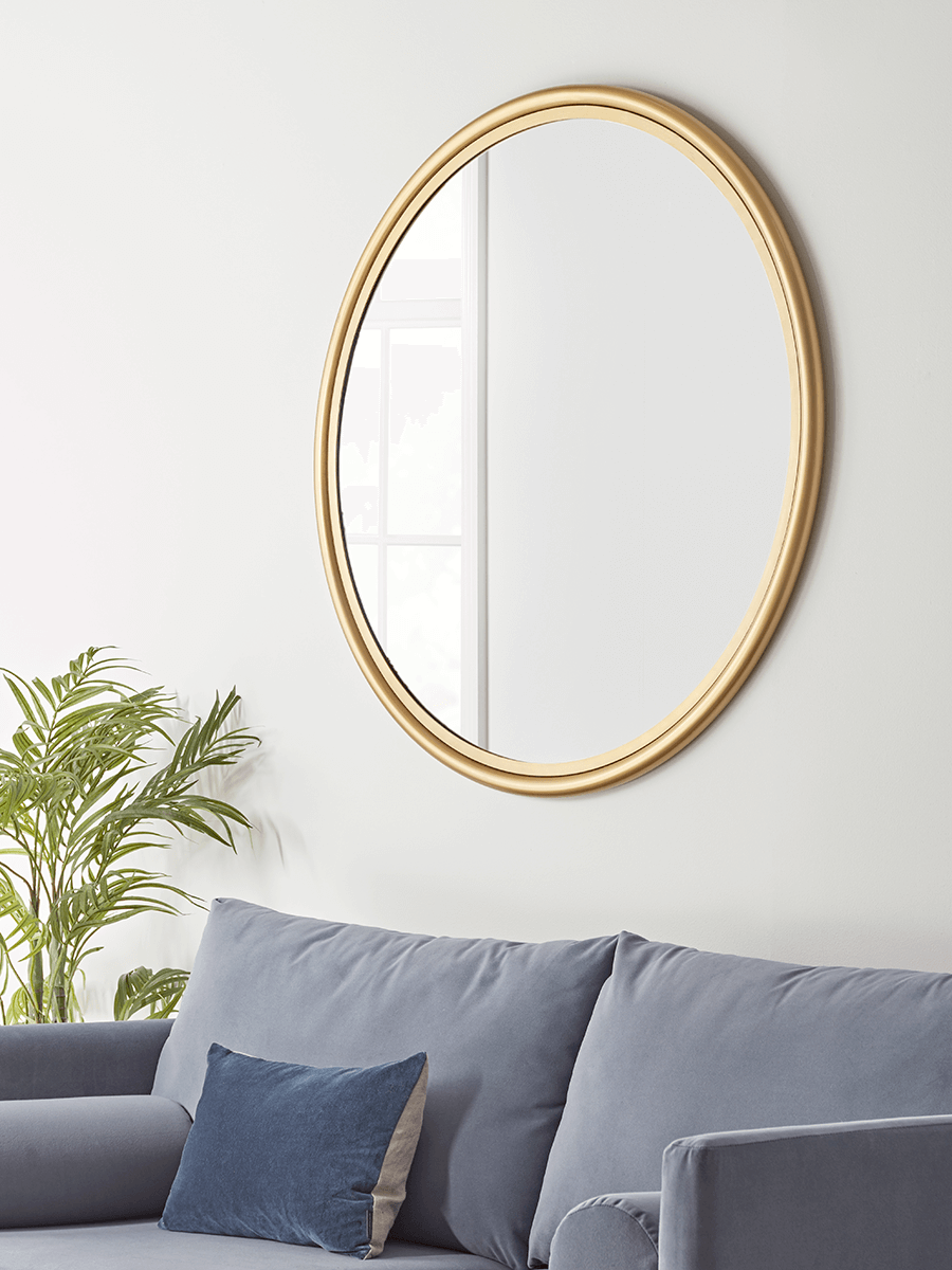 Round Brass Clawson Mirror - Large