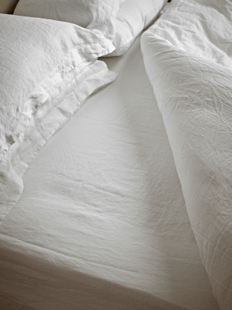 Washed Linen Bedding - Soft White
