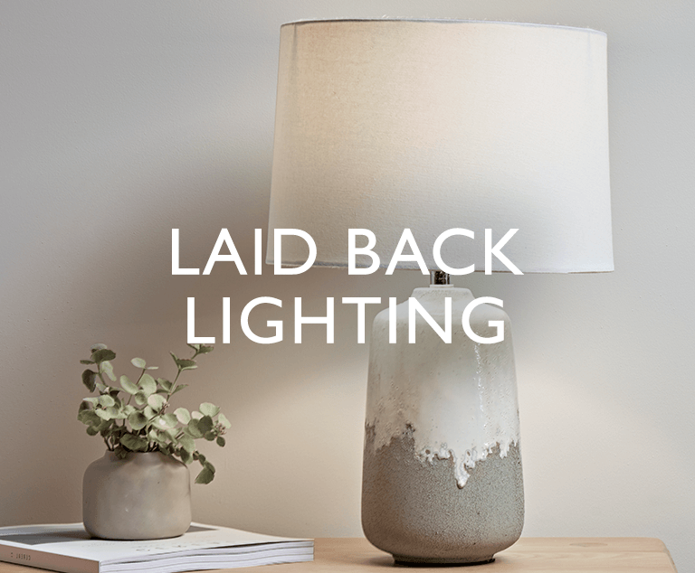 Laid Back Lighting - Add a subtle glow with table, desk and floor lamps