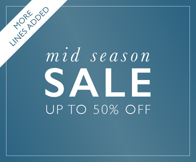 Mid Season Sale - Up To 50 Percent Off