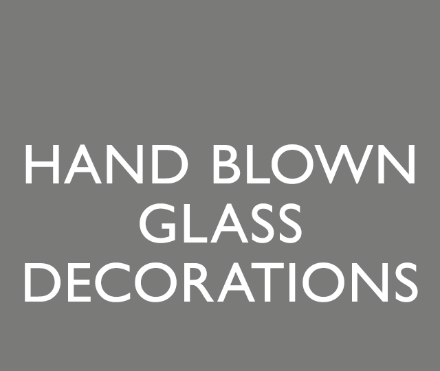 Hand Blown Glass Decorations
