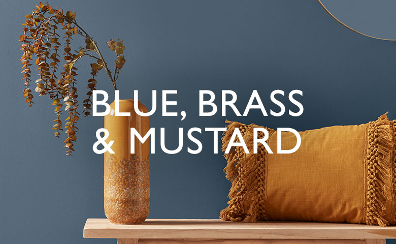 Blue, Brass and Mustard