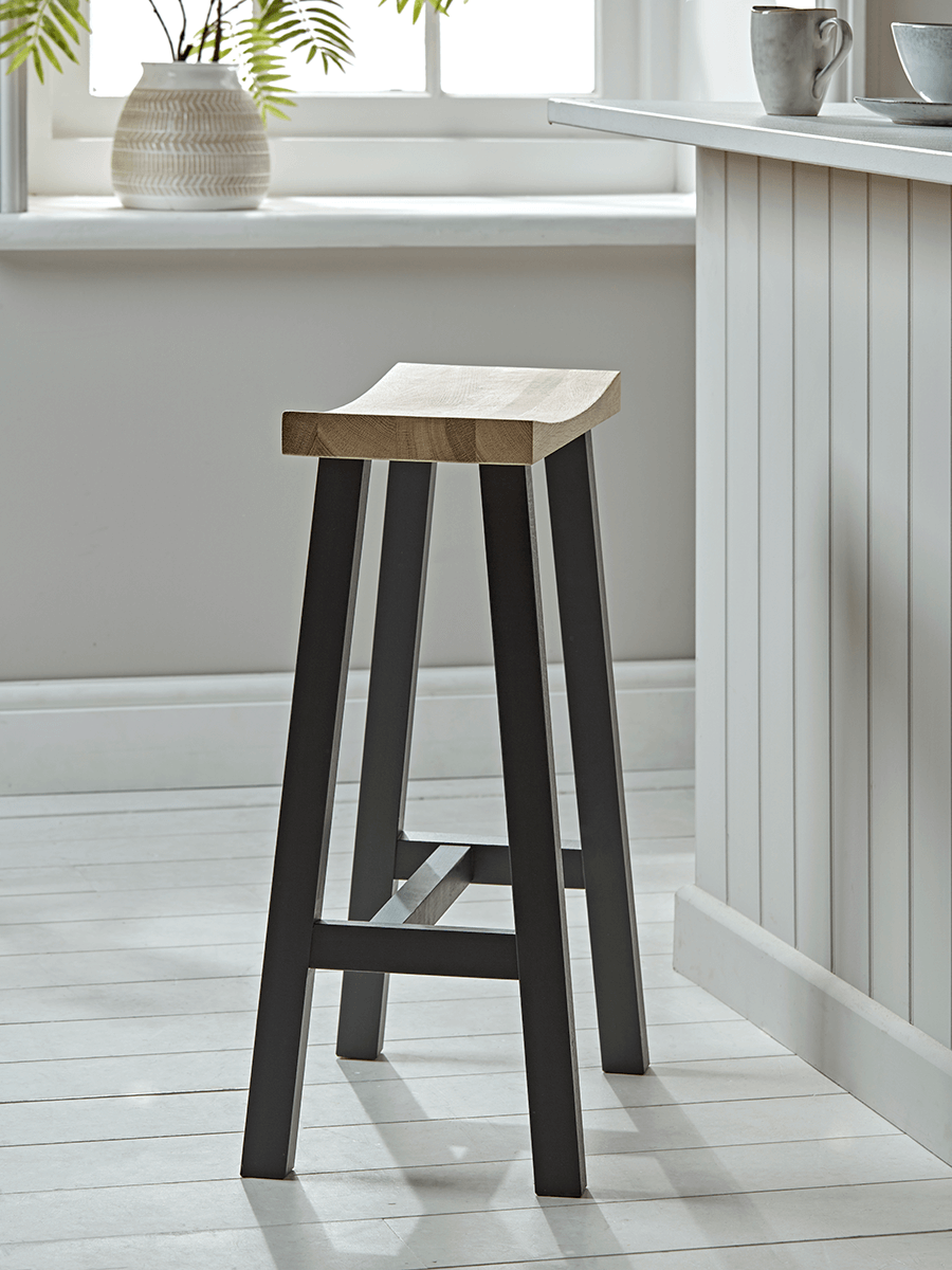 Image of Curved Topped Counter Stool - Anthracite