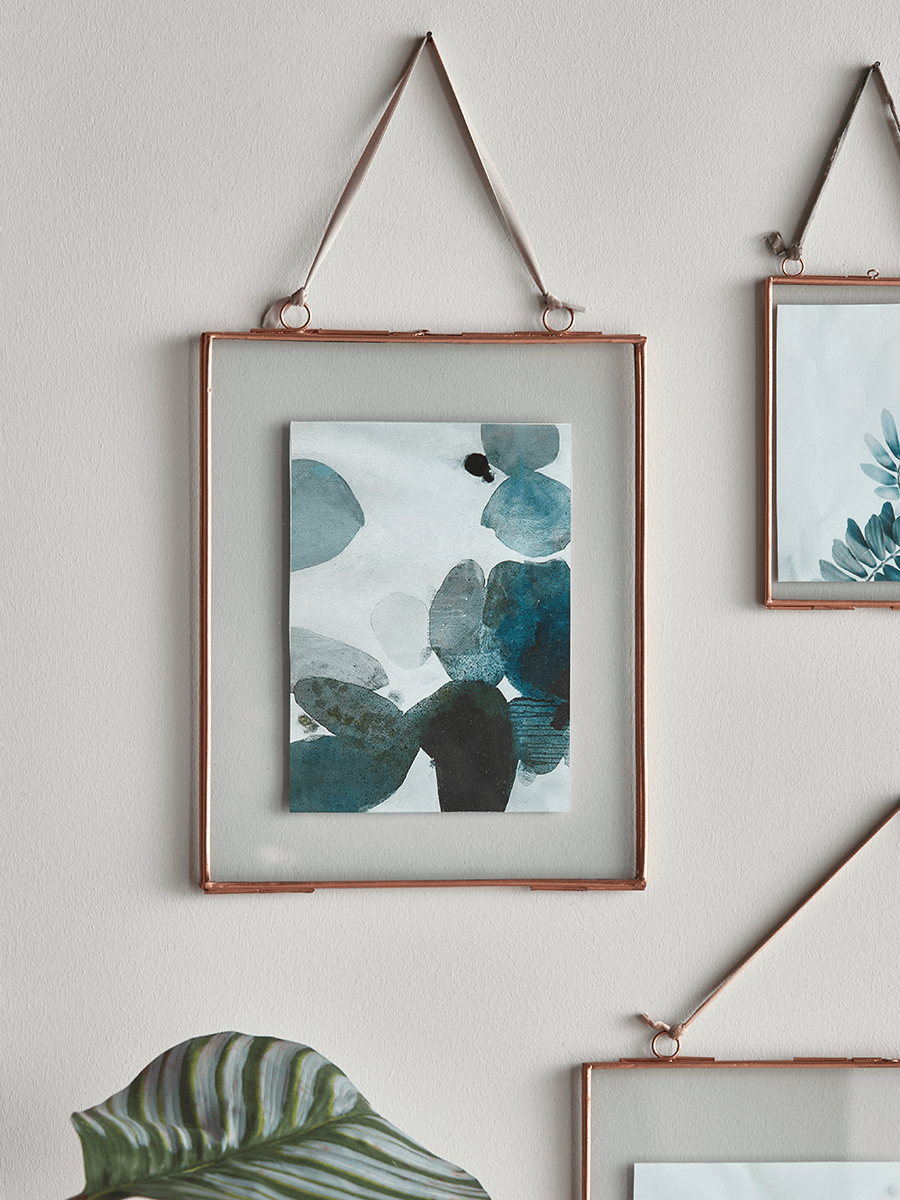 Copper Small Metal Hanging Frame Set Of 6