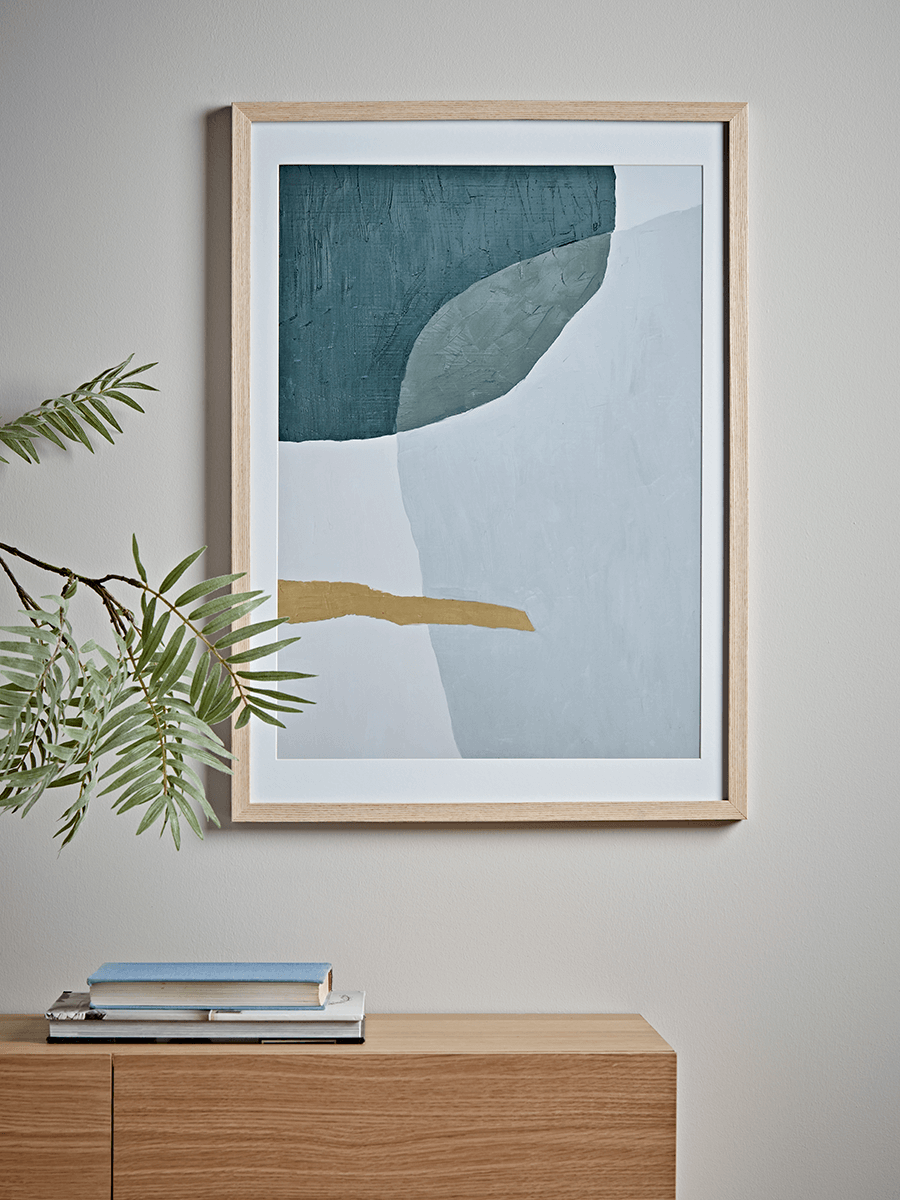 Abstract Framed Print - Blue